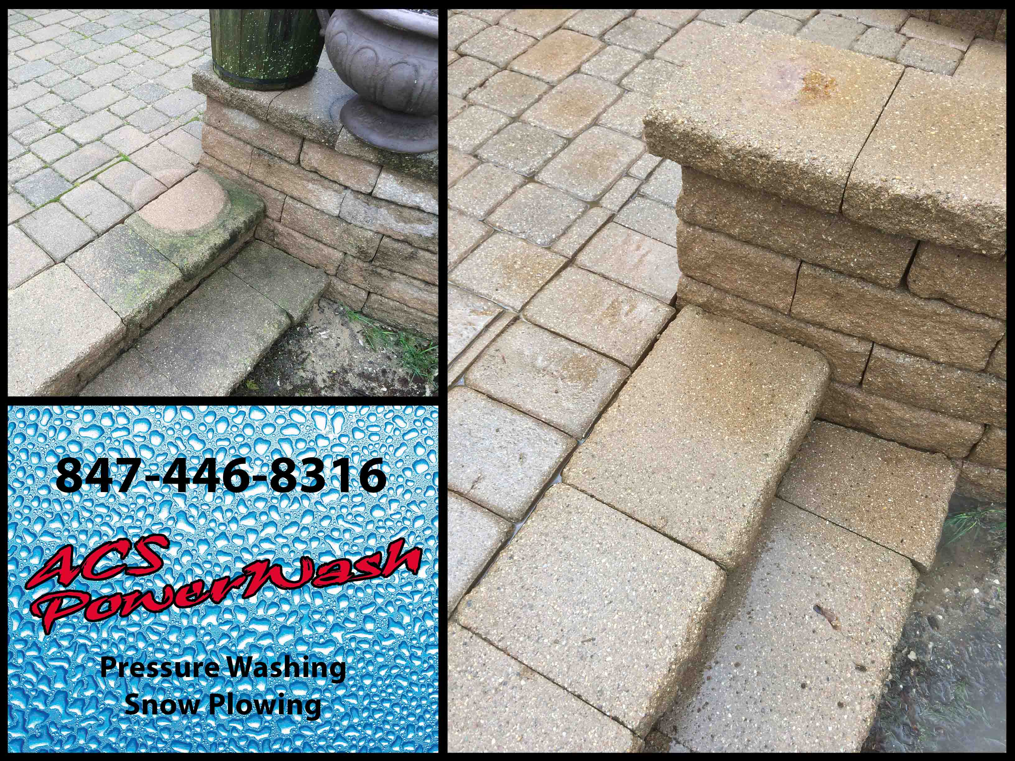 Pressure Washing: Brick Patio Glenview, Illinois (60025